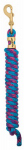 Weaver Leather 35-2100-B16 Horse Lead Rope, Blue/Pink/Purple Poly, 5/8-In. x 10-Ft.