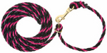 Weaver Leather 35-4041-PK/BK Livestock Neck Rope, Pink Fusion/Black Poly, 1/2-In. x 10-Ft.