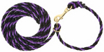 Weaver Leather 35-4041-PU/BK Livestock Neck Rope, Purple/Black Poly, 1/2-In. x 10-Ft.