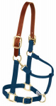 Weaver Leather 35-6025-NV Horse Halter, Breakaway, Navy Nylon/Leather, 1-In., Average/Yearling Draft