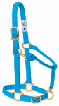Weaver Leather 35-7035-HB Horse Halter, Snap, Hurricane Blue Nylon, 1-In., Average/Weanling Draft