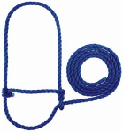 Weaver Leather 35-7900-BL Cattle Halter, Blue Poly Rope, 7-Ft.