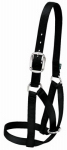 Weaver Leather 35-8004-BK Cattle Halter For Barn, Black Nylon, Medium, 1-In.
