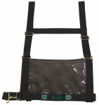 Weaver Leather 35-8103-BK 4-H Show Number Harness, Black Nylon, Youth/Women's, Small/Medium