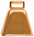 Weaver Leather 65-4473 Cow Bell, Copper-Plated Steel, 2-1/2 x 2-1/4 x 1-3/4-In.
