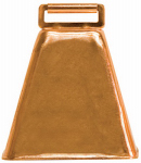 Weaver Leather 65-4474 Cow Bell, Copper-Plated Steel, 3-3/4 x 3-1/4 x 2-1/2-In.