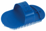 Weaver Leather 69-6005-BL Livestock Massage Brush, Blue, 4 x 4.5-In.