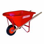 Seymour Mfg 85720 Junior Wheelbarrow, Red Poly, 31-In. Hardwood Handles