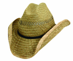 "Dorfman Pacific TMMS58OS Men's 3"" Western Straw Hat Assortment"