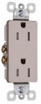 Pass & Seymour 885TRNICC12 Decorator Tamper-Resistant Receptacle, Nickel Finish