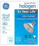 G E Lighting 76127 Halogen Spot Light Bulb, Dimmable, 48-Watt
