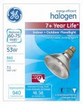 G E Lighting 76143 Halogen Bulb, Crisp White, 53-Watt