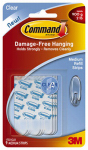 3M 17021CLR Clear Adhesive Refill Strips - Medium