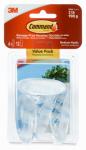 3M 17091CLR-6ES Clear Medium Hook Value Pack