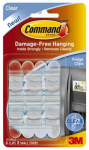 3M 17210CLR Clear Fridge Hooks - 6 Pack