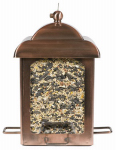 Woodstream 365 Antique Copper Chalet Lantern Bird Feeder, 10-In.