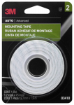 3M 03410NA Mounting Tape, 1/2 x 75-In.