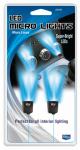 Custom Accessories 25400 Car LED Micro or Micron or Microfiber Light, Cigarette Lighter Plug-In, Blue, 12-Volt