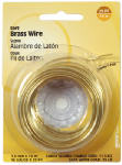 Hillman Fasteners 123120 28-Gauge Brass Wire, 75-Ft.
