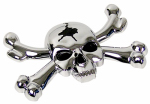 Custom Accessories 98040 Car Emblem, Skull, Self-Adhesive