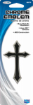 Custom Accessories 98070 Car Emblem, Cross, Chrome/Black, Self-Adhesive