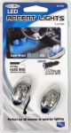 Custom Accessories 23735 Car LED Accent Light, Interior/Exterior, Blue, 2-Pc.