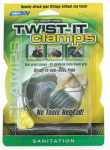 Camco Mfg 39553 RV Sewer Hose Twist It Clamp, 3-In.