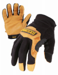 Ironclad Performance Wear RWC2-04-L Cowboy Ranchworx Safety Gloves, Washable Bullwhip Leather, Large