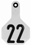 Animal Health International 7700001 All American Livestock Tag, Numbered, Medium, White, 25-Pk.