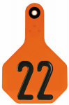 Animal Health International 7702001 All American Livestock Tag, Numbered, Medium, Orange, 25-Pk.