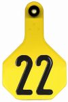 Animal Health International 7712001 All American Livestock Tag, Numbered, Medium, Yellow, 25-Pk.