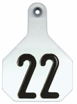 Animal Health International 7900001 All American Livestock Tag, Numbered, Large, White, 25-Pk.