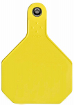 Animal Health International 7913000 All American Livestock Tag, Blank, Large, Yellow, 25-Pk.
