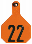 Animal Health International 7902001 All American Livestock Tag, Numbered, Large, Orange, 25-Pk.