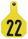 Y-Tex 7912001 All American Livestock Tag, Numbered, Large, Yellow, 25-Pk.