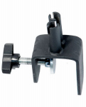 Woodlink SP26 Deck Clamp, Double, Vertical Rail, Black Steel, 4.5-In.