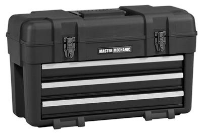 Waterloo Industries MM23BK Plastic Tool Box / Chest, 3-Drawe