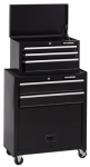 Waterloo Industries MM26TCBBK5 Tool Center, 5-Drawer With Casters, Black, 26-In.