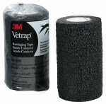3M 1410BK Vetrap Horse Bandaging Tape, Black, 4-In. x 5-Yds.