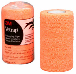 3M 1410BO Vetrap Horse Bandaging Tape, Orange, 4-In. x 5-Yds.