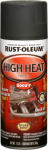 Rust-Oleum 248903 High-Heat Spray Enamel, Flat Black, 12-oz.