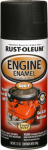 Rust-Oleum 248936 Engine Spray Enamel, Black Semi-Gloss, 12-oz.