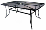Woodard Cm 1172-BXU Uptown Collection Mesh Dining Table, 42 x 72-In.