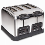 Hamilton Beach Brands 24790 Classic Bagel Toaster, 4-Slice, Chrome