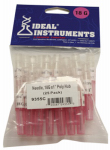 Neogen 9355 Livestock Injection Needles, Disposable, 1-In. Poly Hub, 18-Ga., 25-Pk.