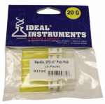 Neogen 9372 Livestock Injection Needles, Disposable, 1-In. Poly Hub, 20-Ga., 5-Pk.