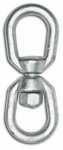 "Apex Tools Group T9630435 1/4"" Eye To Eye Swivel, Forged, Galvanized, Industrial Grade, UPC Tagged, WLL 850 LB"