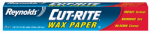Reynolds Consumer Products 330 Cut Rite Wax Paper, 75-Sq. Ft.