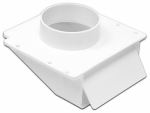 Lambro Industries 143WP Under-Eave Dryer Vent, White Plastic, 4-In. Collar