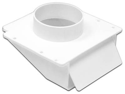 Lambro 143WP Under-Eave Dryer Vent, White Plastic, 4-In. Col
